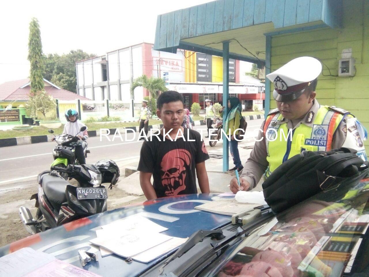 Operasi Zebra Telabang, Polres Sukamara Amankan 36 Kendaraan