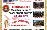 "Fordayak Kalteng Tolak Gerakan ""People Power"""