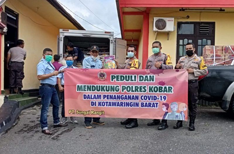 PT. Sungai Rangit Peduli dan Dukung Polres Kobar Tangani Covid-19