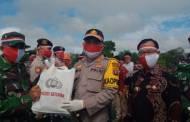 Peringati Hari Lahir Pancasila, Polres Katingan Distribusikan Bantuan 20 Ton Beras