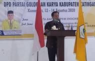 Hadiri Musda ke-V DPD Partai Golkar Katingan, Ini Pesan Bupati Sakariyas