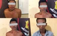 Todong Korban Gunakan Parang, Empat Pelaku Curas Diringus di Sampit