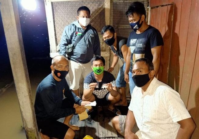 Polsek Jenamas Ringkus Terduga Pengedar Sabu di Lanting Ujung Kampung