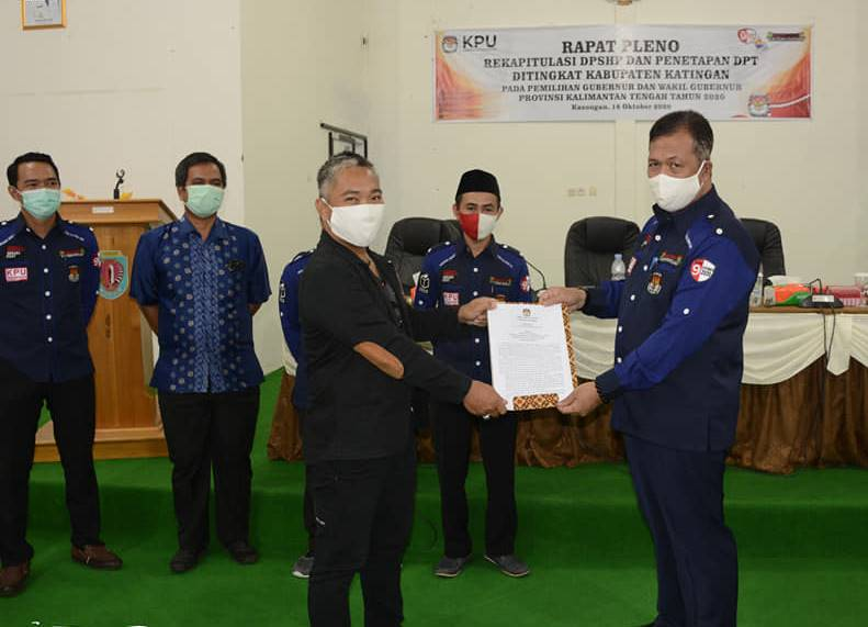 Hasil Rapat Pleno KPU, Jumlah DPT di Kabupaten Katingan Sebanyak 106.663