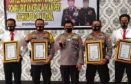 Ungkap Pembakaran GOR UPR, Polresta Palangka Raya Diberi Penghargaan
