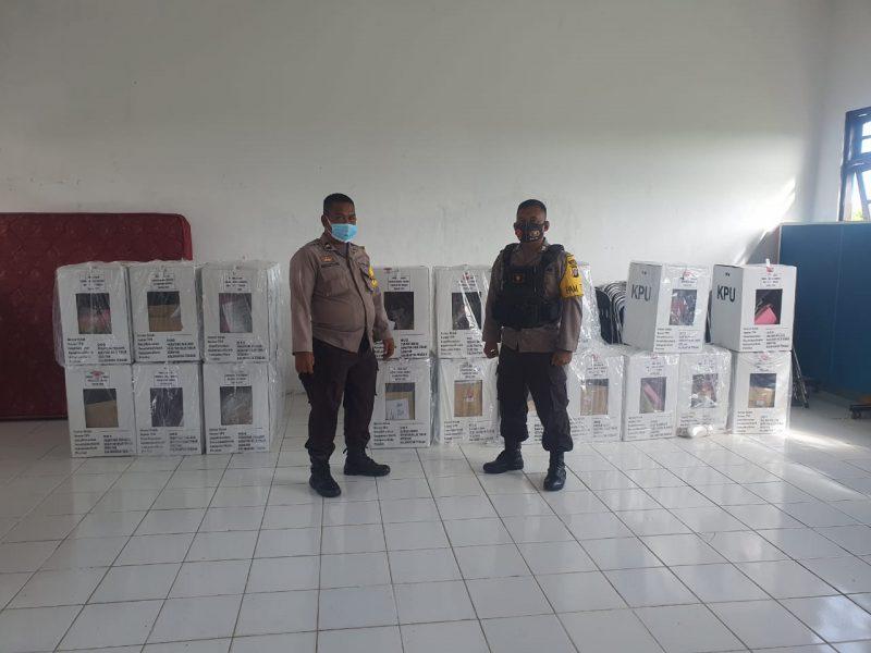 Polisi Pastikan Kotak dan Surat Suara Pilkada Aman di PPK