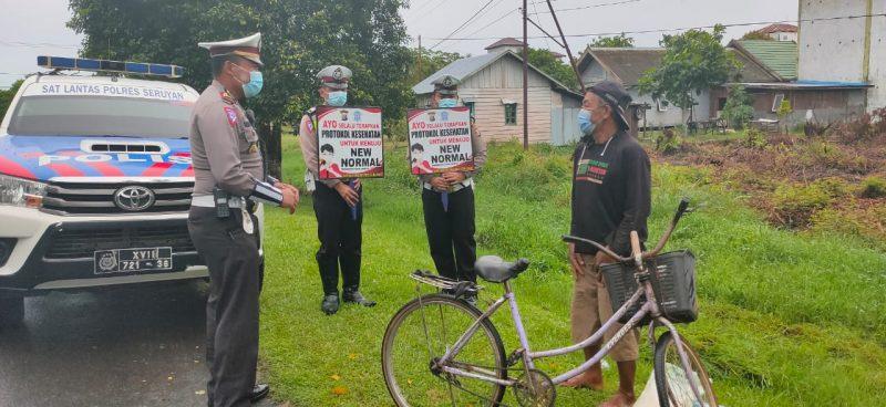 Satlantas Polres Seruyan Imbau Patuhi Prokes Covid-19