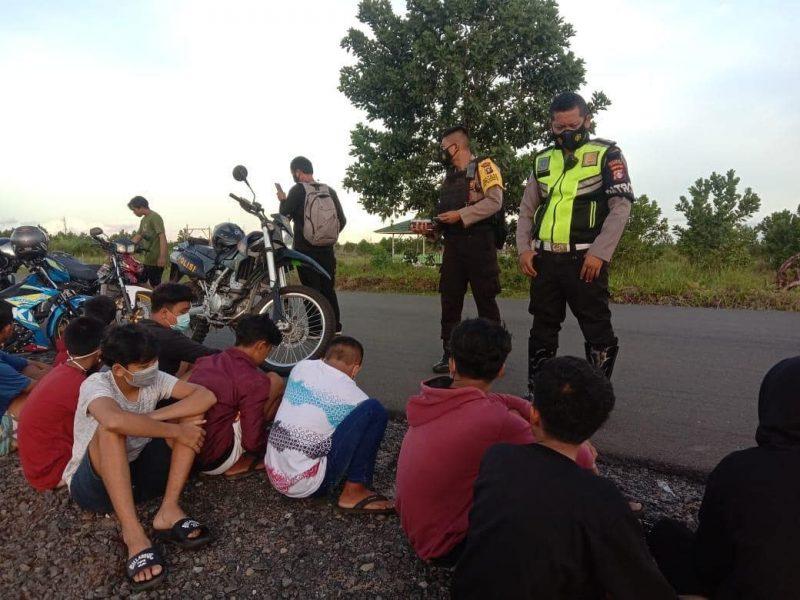 Balapan Liar, 22 Remaja Diamankan Samapta Polda Kalteng