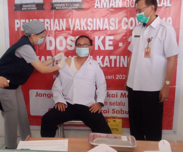 Wabup Katingan Ingatkan Masyarakat Jangan Ragu Lakukan Vaksinasi Covid-19