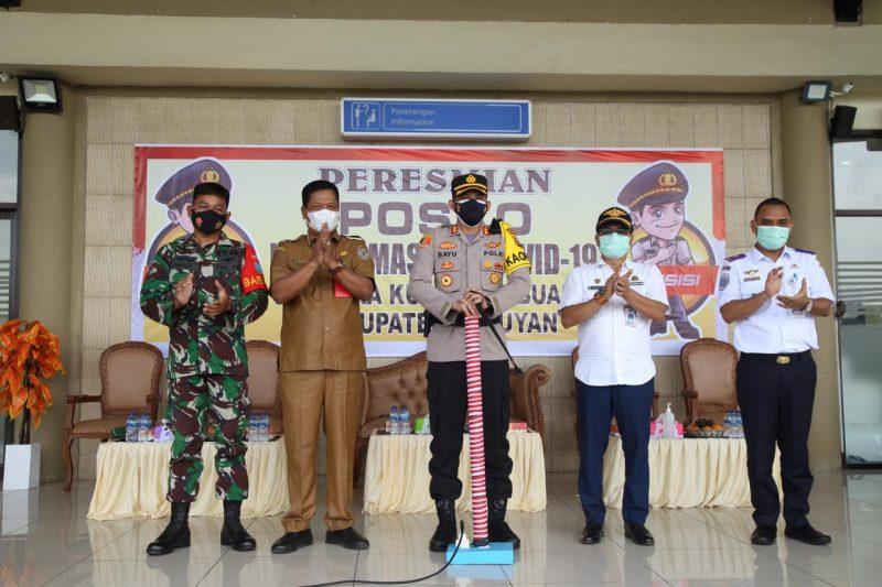 Kapolres Resmikan Posko Penanganan Covid-19 Bandara Kapten Mulyono