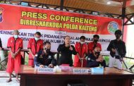 Dalam Sepekan, Polisi Ringkus Pengedar Narkoba di Palangka Raya dan Pulpis