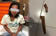Pria Berambut Gondrong Aniaya Perempuan Gunakan Sajam