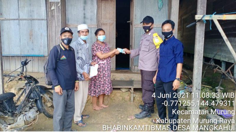 Bhabinkamtibmas Desa Mangkahui Serukan Imbauan Prokes