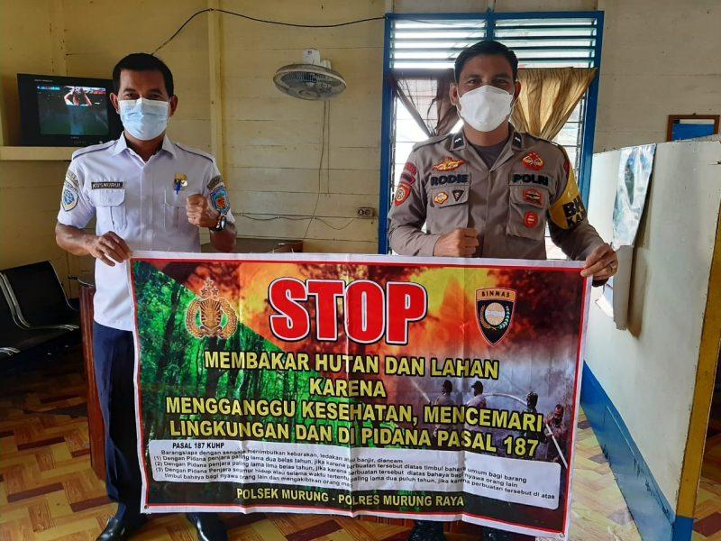 Aipda Rodie Sosialisasikan Karhutla kepada Pegawai Pemerintahan