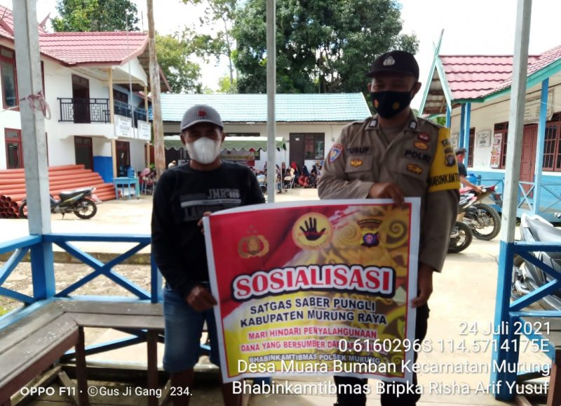 Bripka Risha Arif Yusuf Sosialisasikan Saber Pungli di Muara Bumban