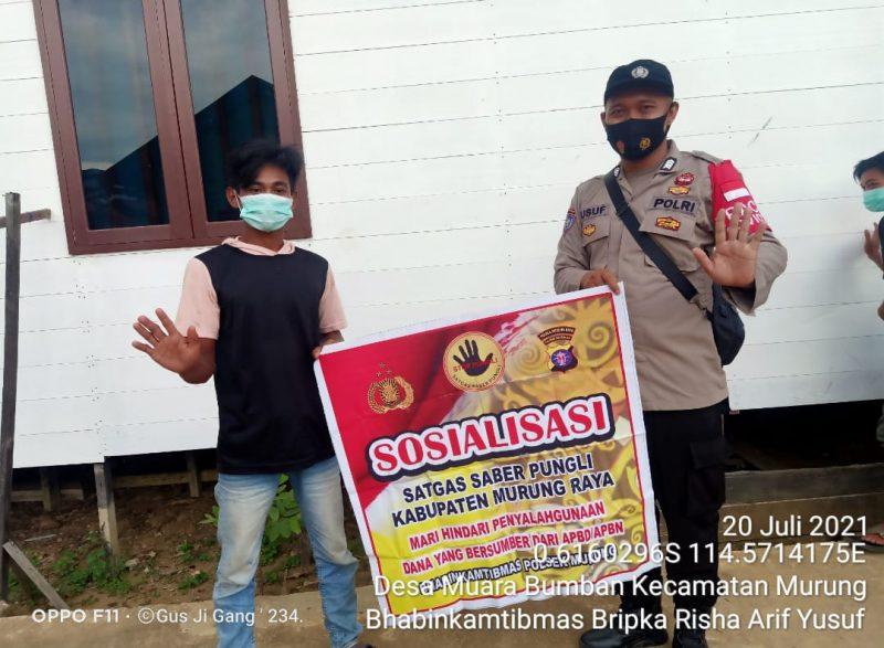 Berikan Sosialisasi Masyarakat Desa Muara Bumban untuk Cegah Pungli