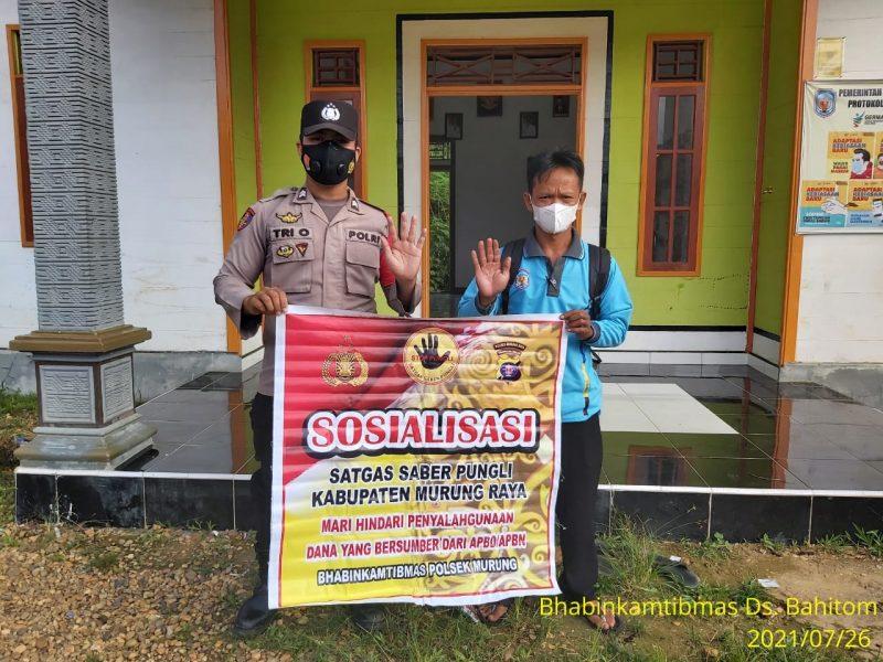 Briptu Tri Oktapianor Imbau Masyarakat Jangan Lakukan Pungli