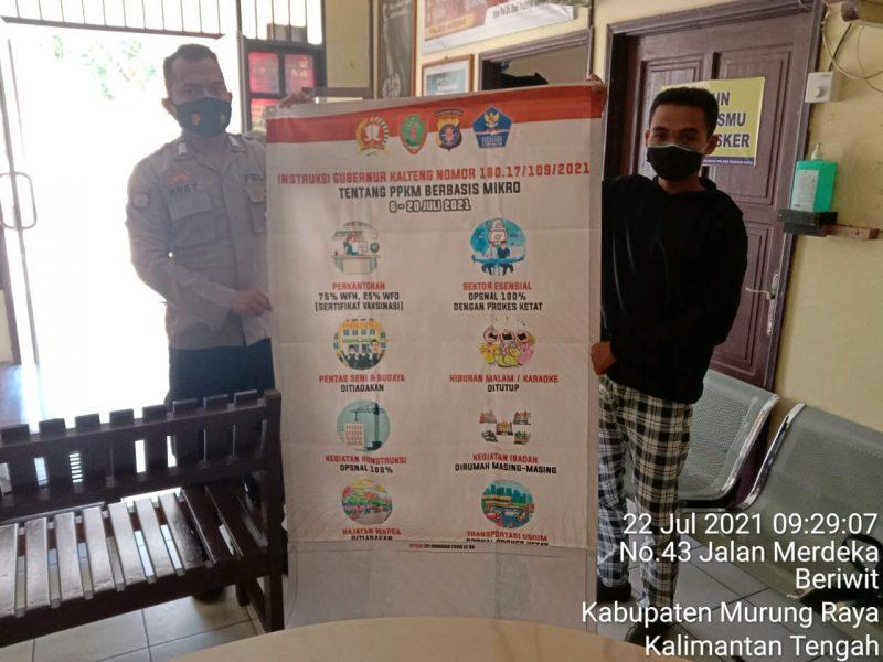 Sampaikan Instruksi Gubernur Kalteng tentang PPKM Berbasis Mikro