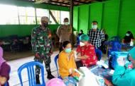 Amankan Pelaksanaan Vaksinasi di Kelurahan Puruk Cahu