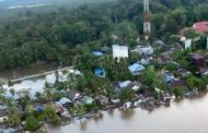 Dari Helikopter Gubernur Pantau Kondisi Banjir Palangka Raya-Katingan