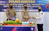 Polres Seruyan Gelar Syukuran Peringatan HUT Lalu Lintas Bhayangkara ke-66