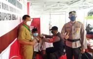 Kapolres Seruyan Monitoring Gerai Vaksinasi Presisi