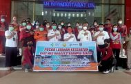 Relawan Poltekkes Palangka Raya Bantu Pelayanan Kesehatan Korban Banjir Katingan